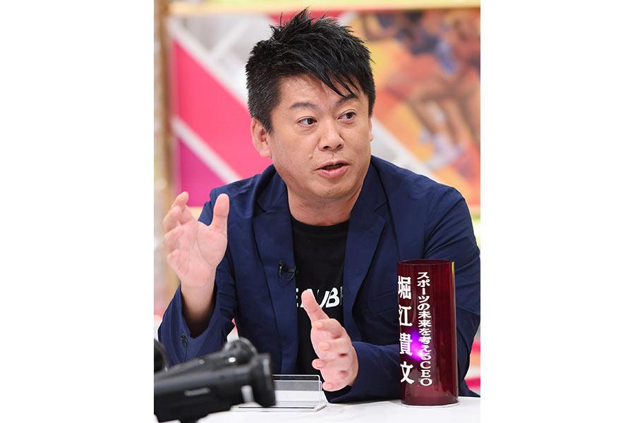 毎日放送『戦え!スポーツ内閣』の収録に参加した堀江貴文氏