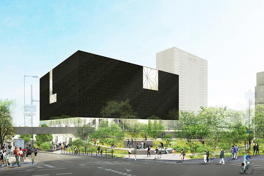 2021年度オープン予定の「大阪中之島美術館」(イメージ)