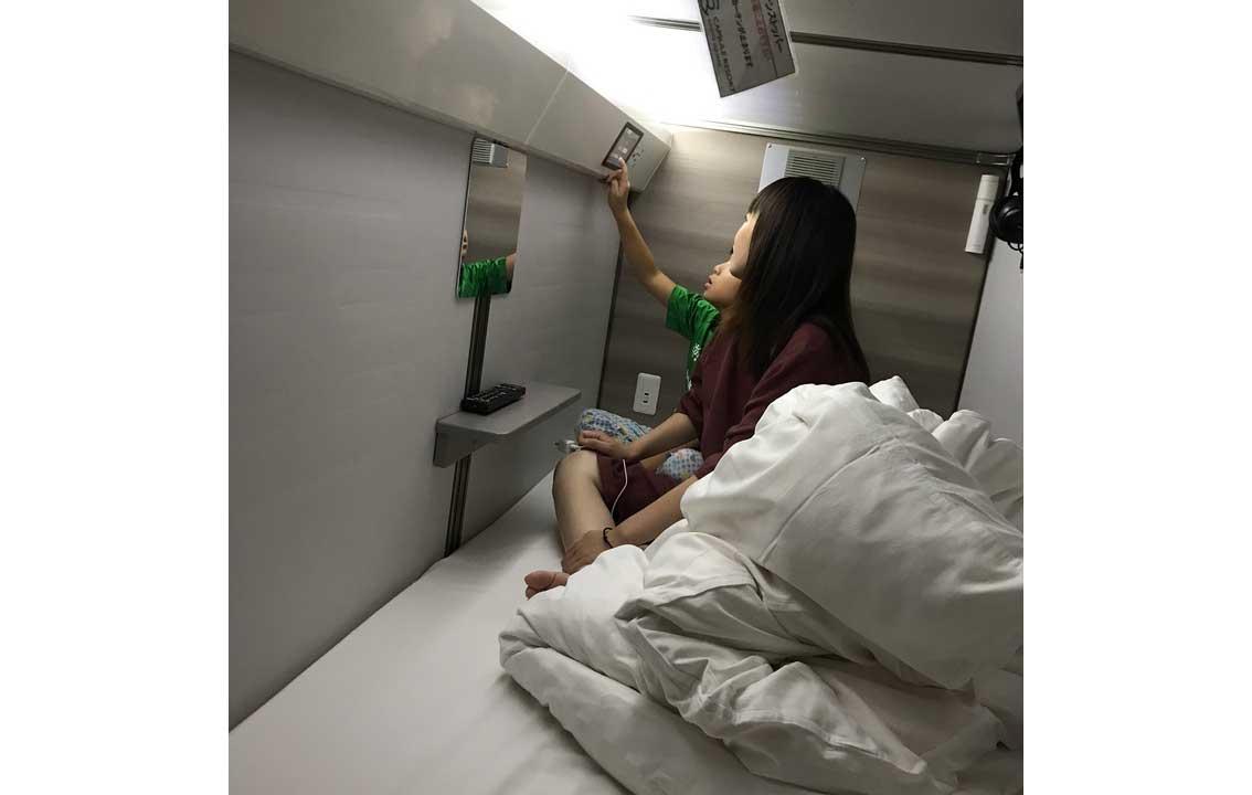 宿泊するのは通常サイズのカプセルホテル