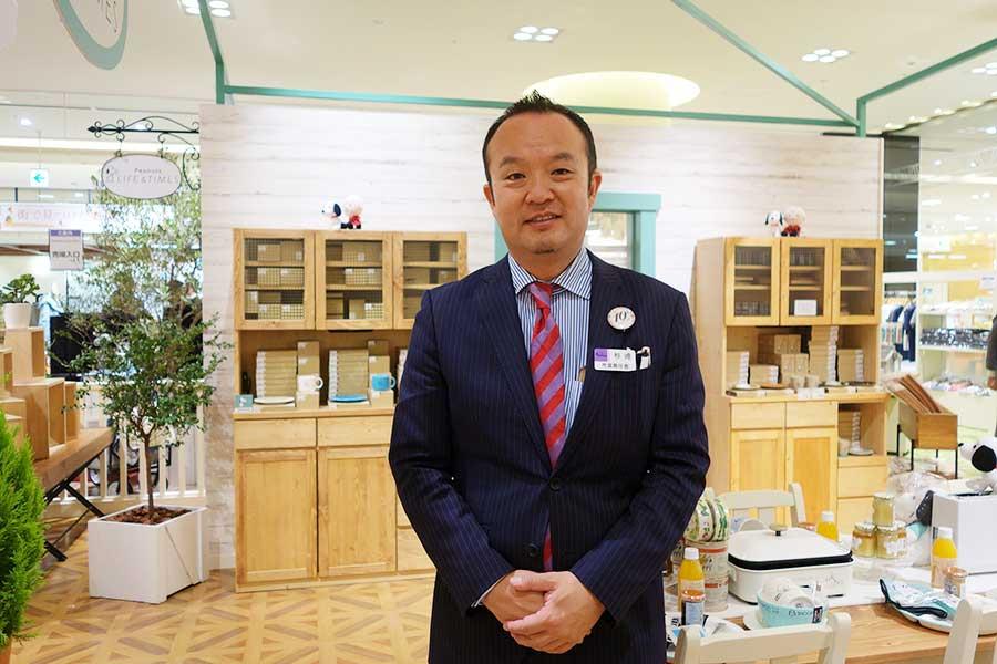 店長・杉崎聡さんもピーナッツ・ファン。毎日、何かアイテムを身につけているほど
