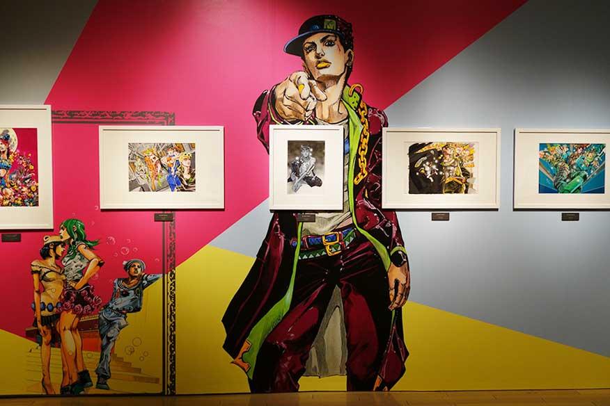 カラー原画が展示される『JOJO's Design』Ⓒ荒木飛呂彦&LUCKY LAND COMMUNICATIONS/集英社