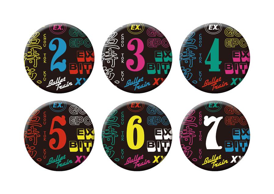 入場特典の缶バッジ(全6種・ランダム)
