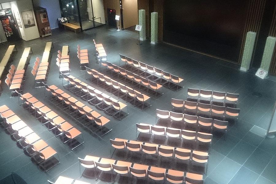 「NHK京都放送局」1階にある「8Kプラザ」