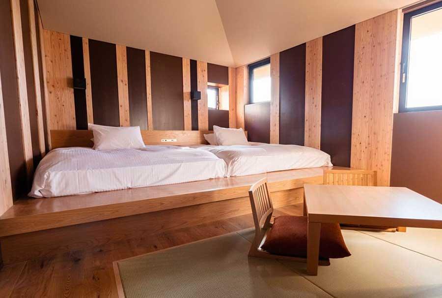 部屋は全部で5種類、なかには町家をイメージした部屋も