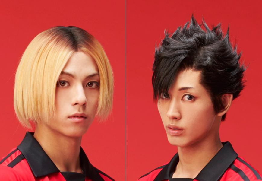 (左から)孤爪研磨役の永田崇人、黒尾鉄朗役の近藤頌利