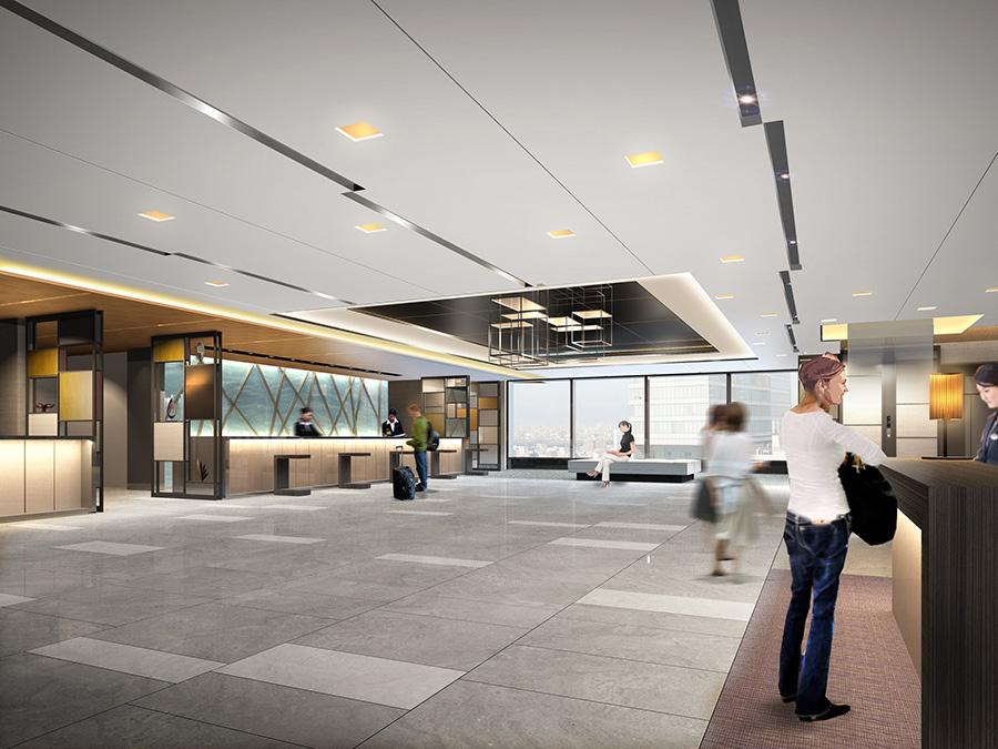 「ホテルグランヴィア大阪」19階フロント&ロビーのリニューアル後イメージパース