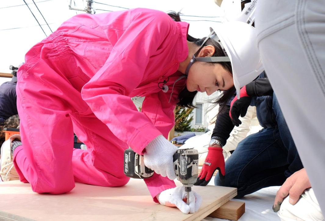 二級建築士の資格を持つ女優・田中道子