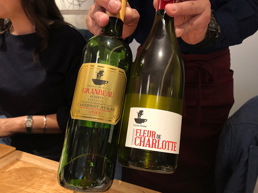 ワインはボトルで1980円〜とリーズナブル。客単価は3800円と想定しているとのこと