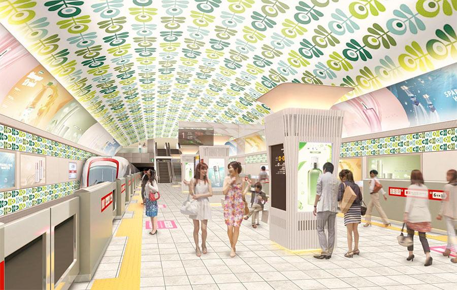 「大阪メトロ」が発表した心斎橋駅のリニューアルイメージ(20日)