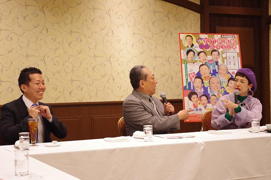 藤山からの結婚の報告が、お互いメディア発表の直前だったと驚く渋谷天外と久本雅美