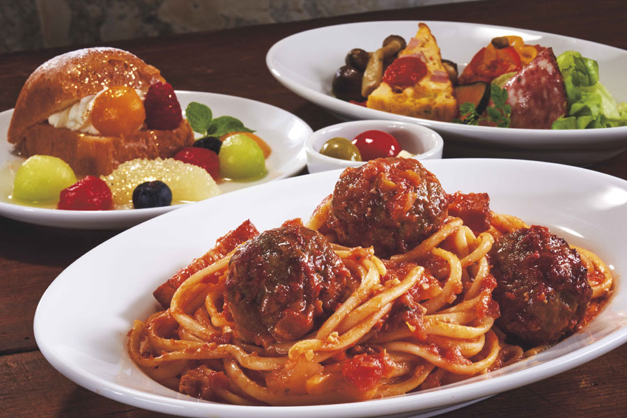 名物グルメ「ミートボール・スパゲティ」など本格イタリアンメニューがラインアップ