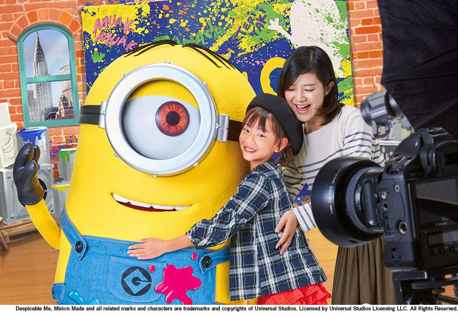 「ユニバーサル・スタジオ・ジャパン」にキャラクターとの撮影が楽しめるグリーティングルームが新設