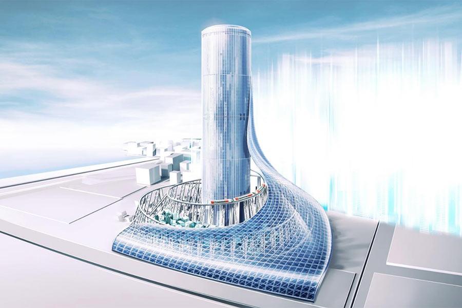 「大阪メトロ」が発表した夢洲駅タワービルのイメージ(20日)