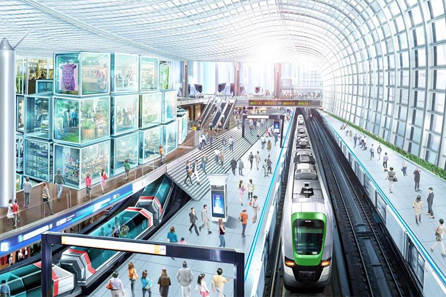 「大阪メトロ」が発表した夢洲駅のイメージ(20日)