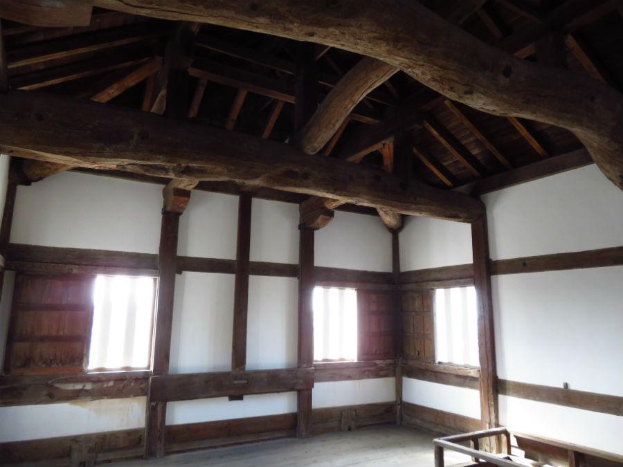 坤櫓の3階(最上階)。西国の外様大名が幕府へ反乱を起こさないよう監視していた