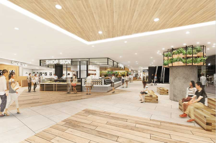敷地を広げ、店舗が増える「うめきたセラー」(イメージ図)