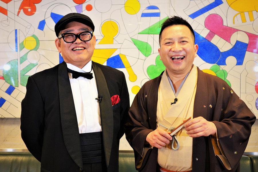 関西を代表するおしゃべりマイスターの兵動大樹(左)と桂吉弥が舞台でW主演を務める