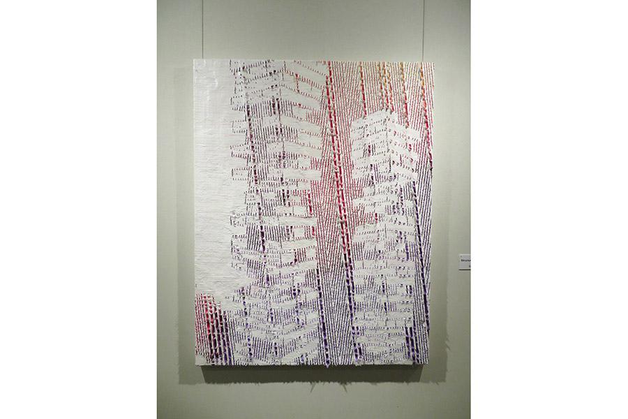 優秀賞を受賞した今西真也の絵画作品『Structure object8』