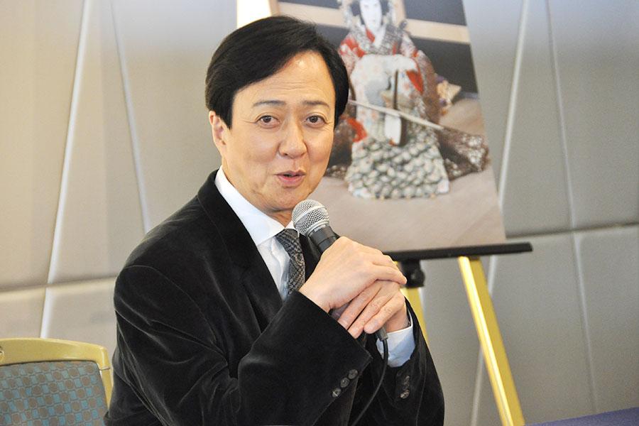 演目『阿古屋』では新しいことに挑戦したいと意欲を見せる坂東玉三郎(21日・大阪市内)