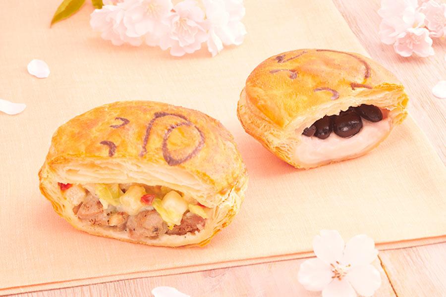 左から、1月23日発売の「炭火焼合鴨のチーズソース」(421円)、「ほんのり桜黒豆」(345円)