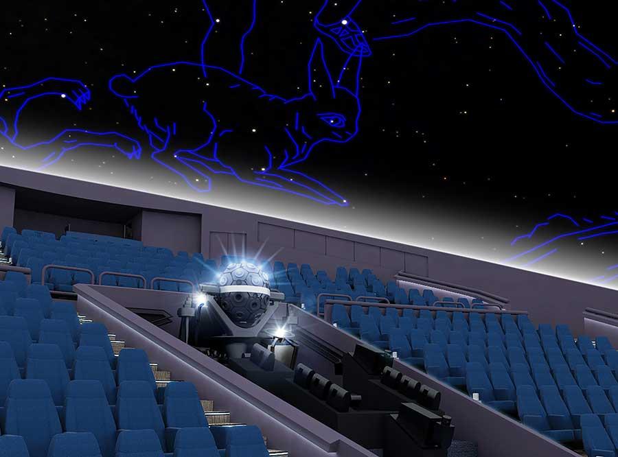 専用機インフィニウムΣ-OSAKAを導入予定。これまで正確に再現不可能だった月食などもリアルに楽しめるという(イメージ図)