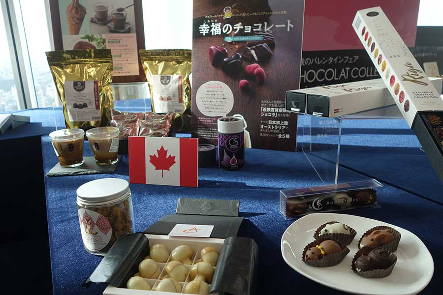 フランスはもちろん、カナダ、ラトビア、オーストラリアなどさまざまな国のチョコが登場予定