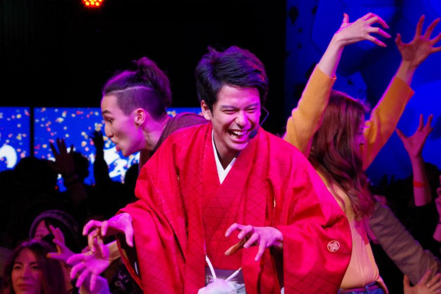 楽しそうにダンスを踊った森崎ウィン(17日・ユニバーサル・スタジオ・ジャパン)