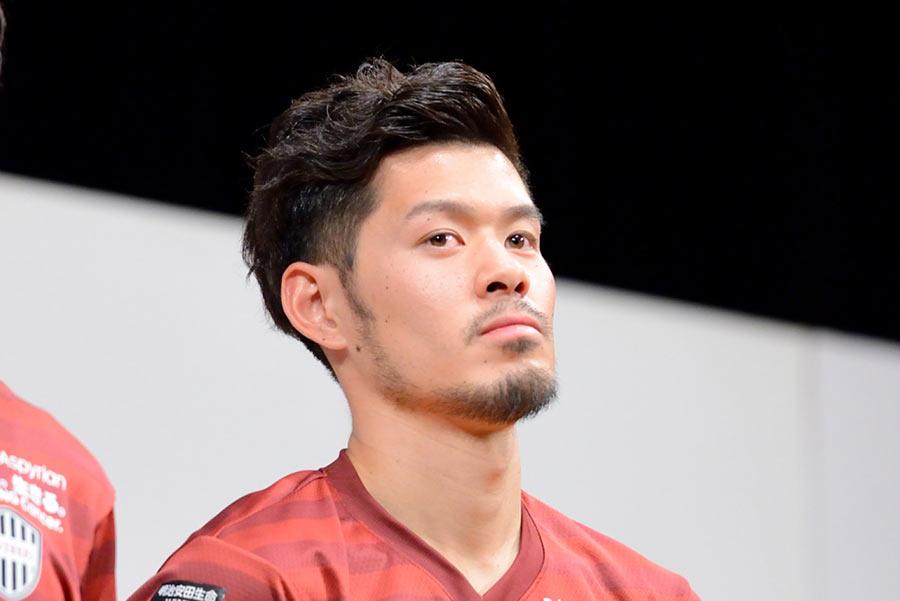 抜群の安定感で日本代表でも活躍した山口蛍選手(17日・神戸市内)