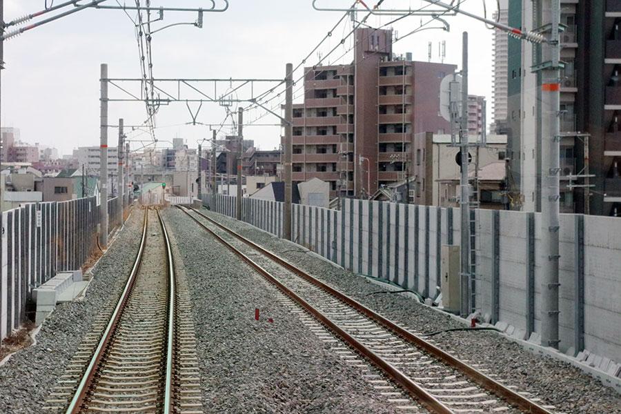 貨物列車用の線路を活用した新区間