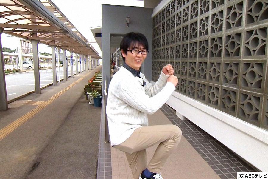 1人ロケに挑戦するスーパーマラドーナ・田中
