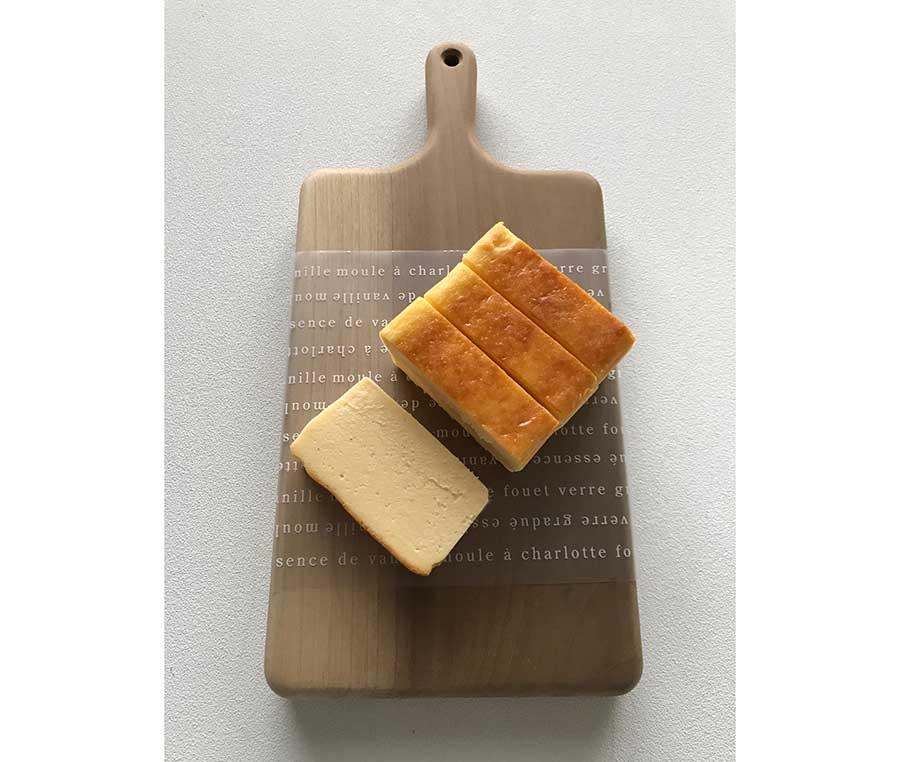 「チーズテリーヌ」は、プレーン、カマンベール、ゴルゴンゾーラピカンテの3種。ホールサイズ3240円