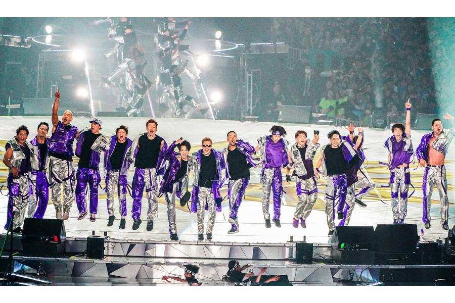 「京セラドーム大阪」で全国ドームツアーのファイナルを開催したEXILE(12日・大阪市内)