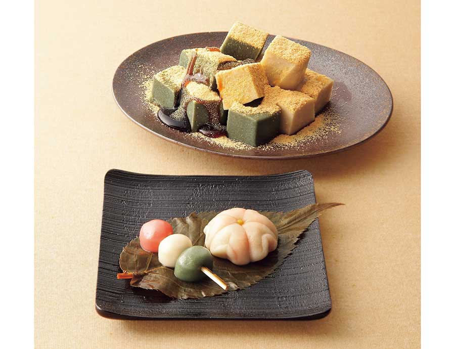 「京麸 半兵衞麸」は、春をイメージしたセット「春が来た」1620円(計6本)、山吹なま麸を販売