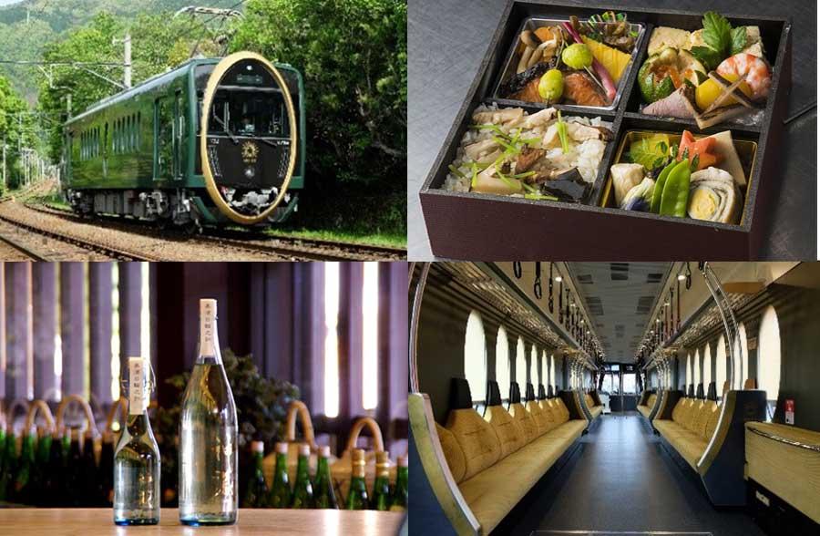 観光列車「ひえい」で、美食と美酒を楽しめる