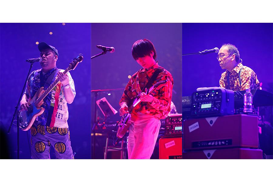 『LIVE SDD 2019』に登場したジェニーハイ(23日・大阪城ホール/左からくっきー、川谷絵音、新垣隆)