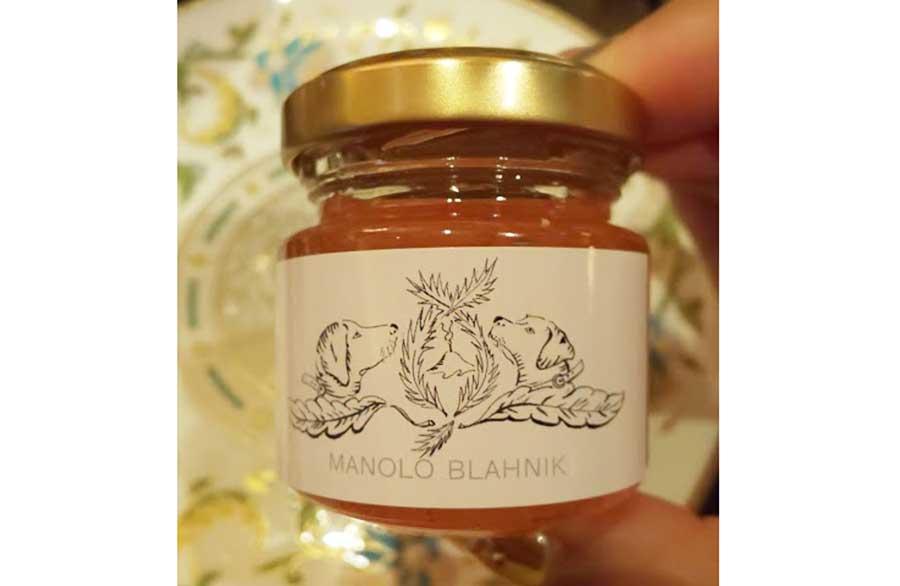 花びら入りの桜ジャム。ラベルもマロノ ブラニクによるデザイン