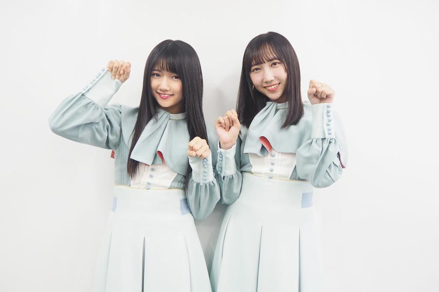 STU48(左から門脇実優菜、薮下楓)
