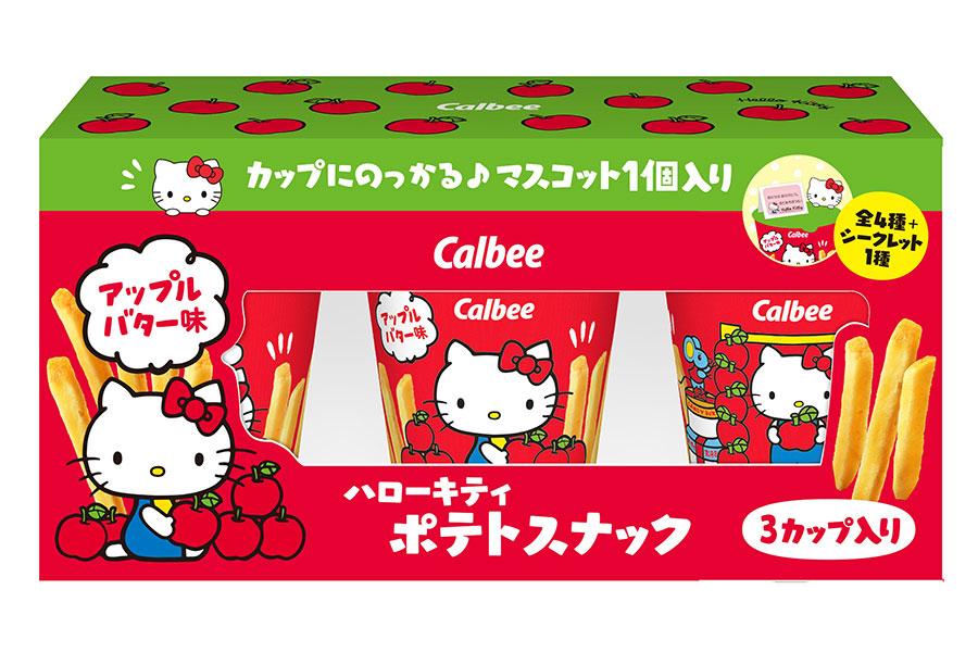 新発売の「ハローキティポテトスナック アップルバター味」(想定価格960円前後)