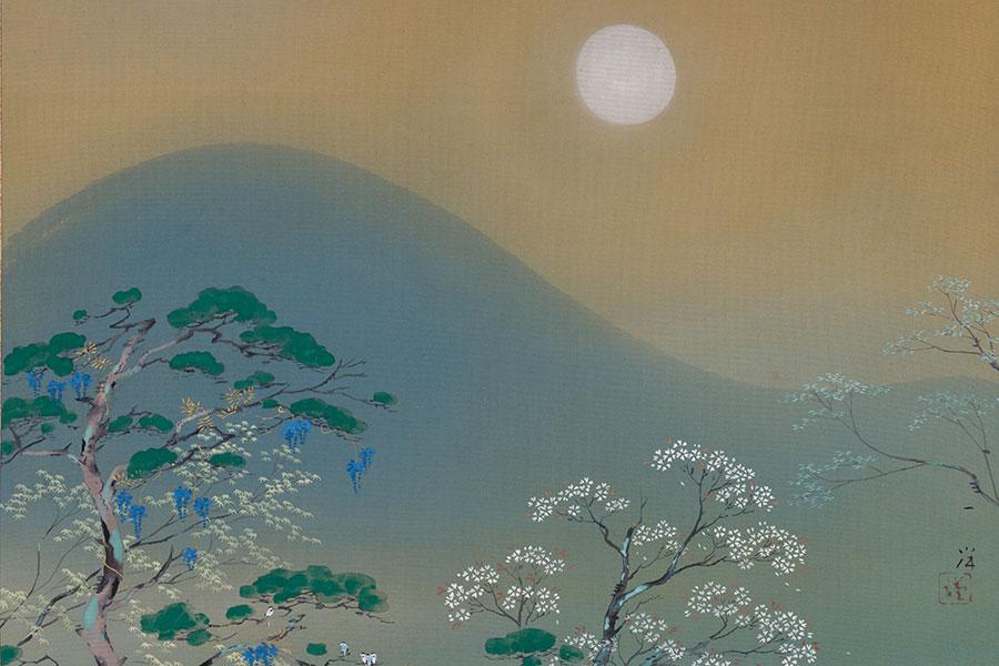 近年の京都限定商品パッケージであった、梥本一洋『衣笠朧月』(『四季京ノ山』の内)