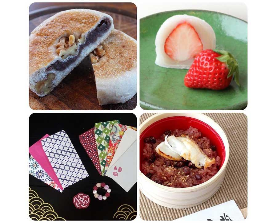 写真右下が、2018年も人気だった「京都吉兆」の鯛赤飯