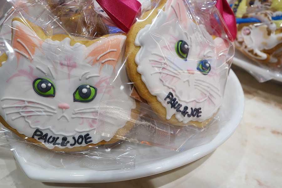 猫のデザインをアイシングクッキーに。全3種