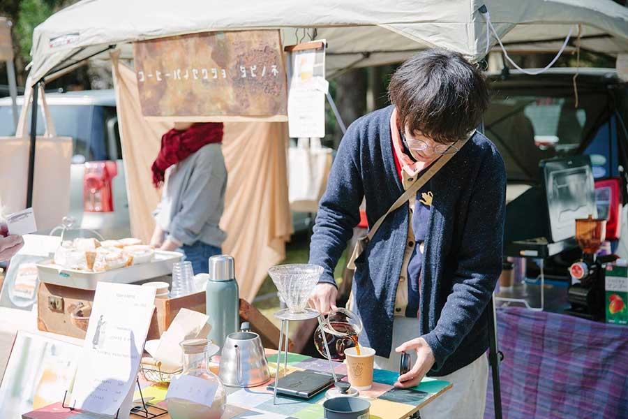 京都・元田中の人気店『珈琲焙煎所 旅の音』は昨年に続き、今年も出店