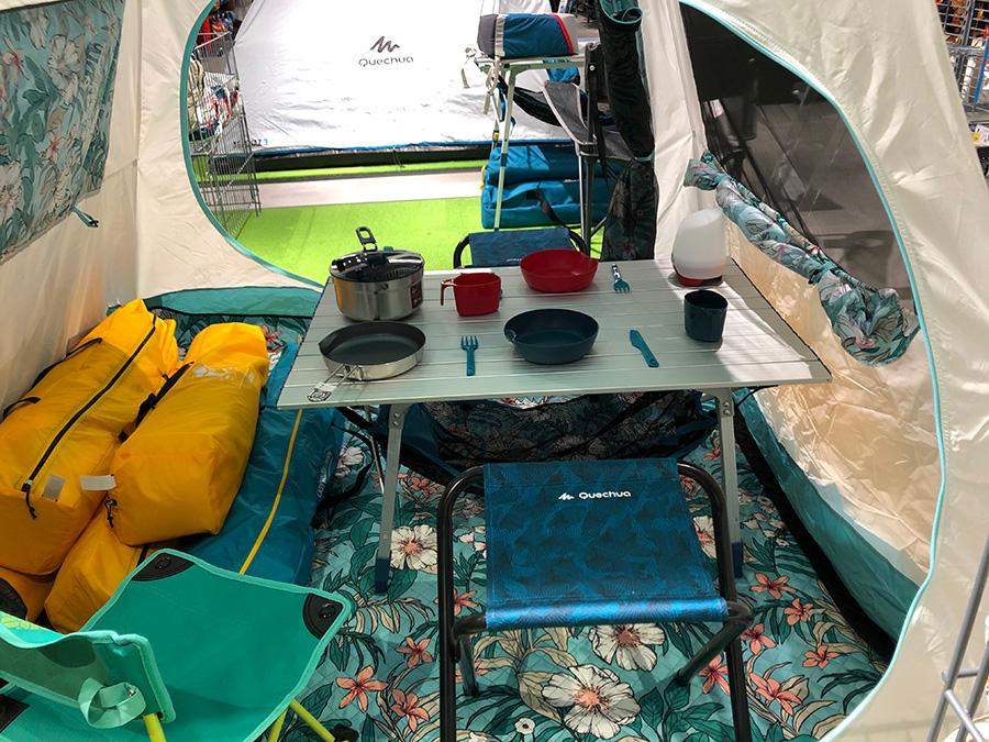 機能性に優れたキャンプ用品がリーズナブルにそろう