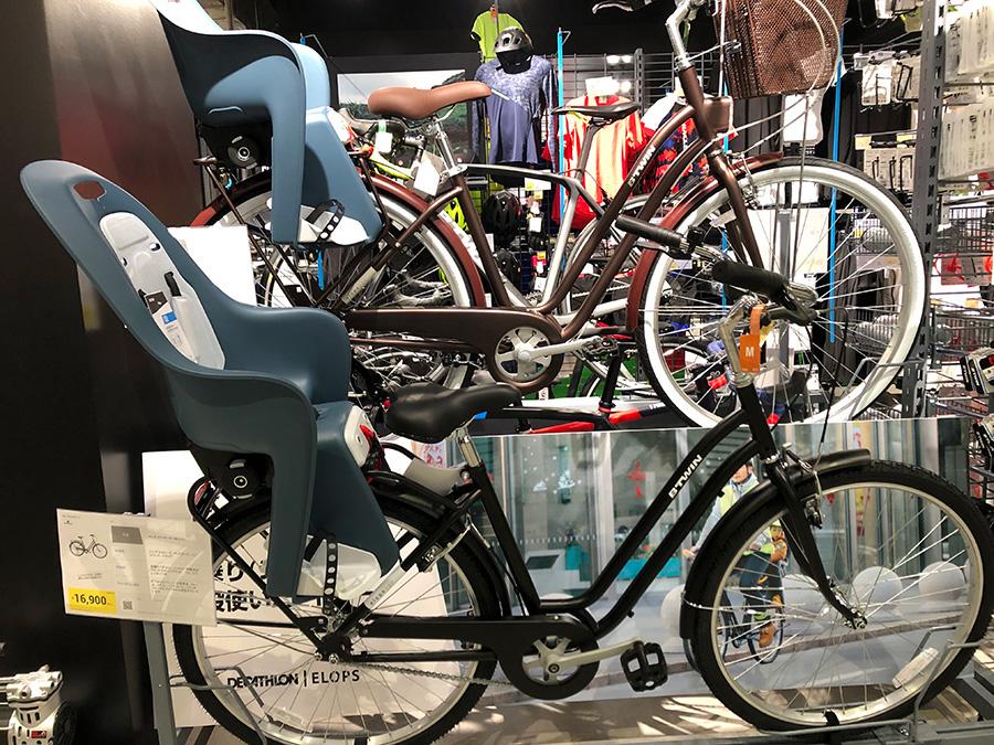 チャイルドシートが装着できる自転車16900円