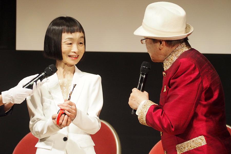 『おおさかシネマフェスティバル2019』で、ワイルドバンチ賞に輝いたどんぐり(3日・大阪市内)