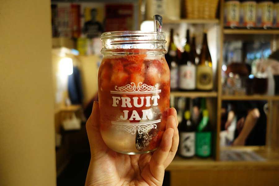 フルーツたっぷりの日本酒サワー(茶屋町Marry)