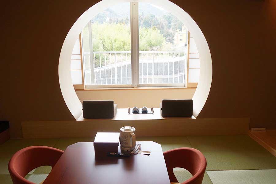 満月をイメージした「MOON」など、さまざまなデザインを施した客室