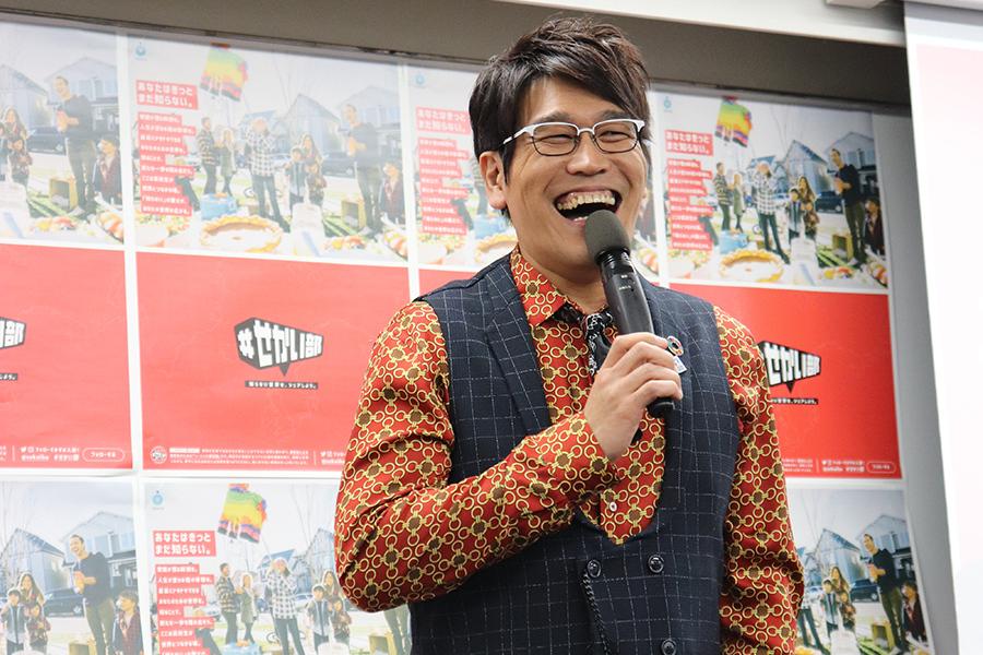 『#せかい部 公式オフ会Vol.2』にCCC大使として参加した古坂大魔王(17日・大阪市内)
