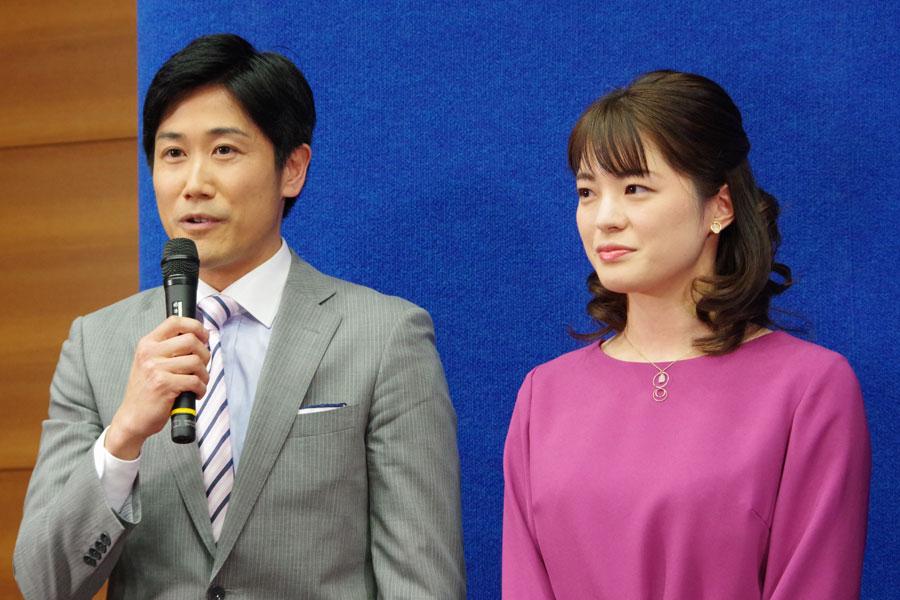 夕方のニュース番組『ニュースほっと関西』を担当する二宮直輝アナ(左)と川崎理加アナ