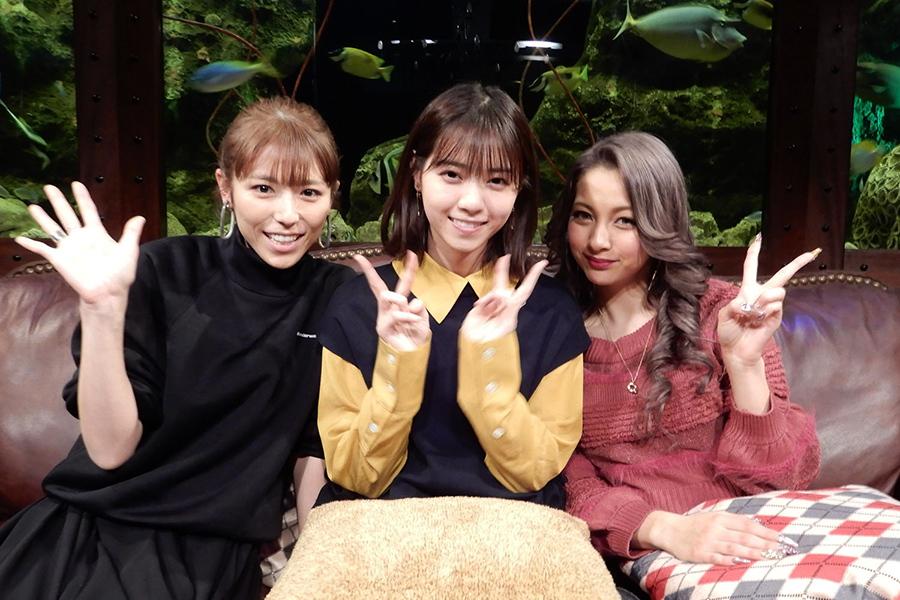 『グータンヌーボ2』のゲスト、左から若槻千夏、西野七瀬、ゆきぽよ